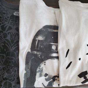 Star wars t shirts XL lot of 3